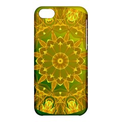 Yellow Green Abstract Wheel Of Fire Apple iPhone 5C Hardshell Case