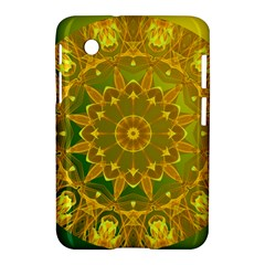 Yellow Green Abstract Wheel Of Fire Samsung Galaxy Tab 2 (7 ) P3100 Hardshell Case