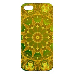 Yellow Green Abstract Wheel Of Fire iPhone 5S Premium Hardshell Case