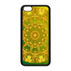 Yellow Green Abstract Wheel Of Fire Apple Iphone 5c Seamless Case (black)