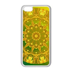 Yellow Green Abstract Wheel Of Fire Apple Iphone 5c Seamless Case (white)