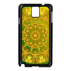 Yellow Green Abstract Wheel Of Fire Samsung Galaxy Note 3 N9005 Case (black)