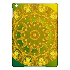 Yellow Green Abstract Wheel Of Fire Apple iPad Air Hardshell Case