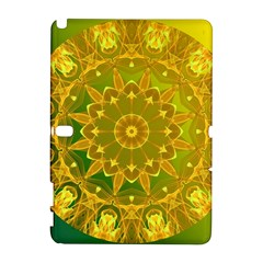 Yellow Green Abstract Wheel Of Fire Samsung Galaxy Note 10.1 (P600) Hardshell Case