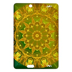 Yellow Green Abstract Wheel Of Fire Kindle Fire HD 7  (2nd Gen) Hardshell Case