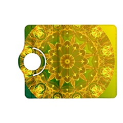 Yellow Green Abstract Wheel Of Fire Kindle Fire HD 7  (2nd Gen) Flip 360 Case