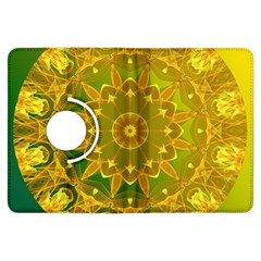 Yellow Green Abstract Wheel Of Fire Kindle Fire Hdx 7  Flip 360 Case