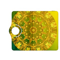 Yellow Green Abstract Wheel Of Fire Kindle Fire HDX 8.9  Flip 360 Case