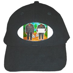 2 Yowie H,text & Furry In Outback, Black Baseball Cap