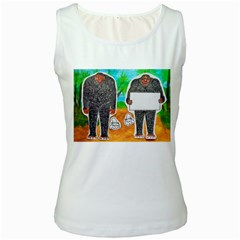 2 Yowie H,text & Furry In Outback, Women s Tank Top (White)