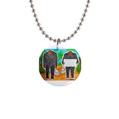 2 Yowie H,text & Furry In Outback, Button Necklace