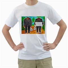 2 Yowie H,text & Furry In Outback, Men s T-Shirt (White)