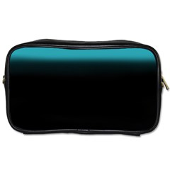 Black And Aqua Travel Toiletry Bag (Two Sides)