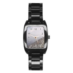 Banff Stainless Steel Barrel Watch