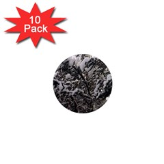 Snowy Trees 1  Mini Button Magnet (10 pack)