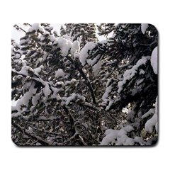 Snowy Trees Large Mouse Pad (rectangle)
