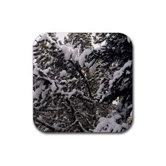 Snowy Trees Drink Coasters 4 Pack (Square)