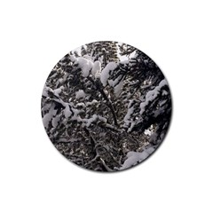 Snowy Trees Drink Coasters 4 Pack (Round)