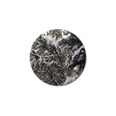 Snowy Trees Golf Ball Marker 4 Pack