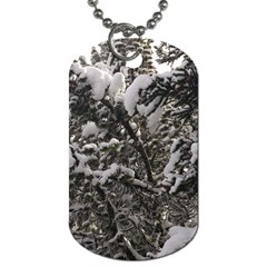 Snowy Trees Dog Tag (Two-sided)