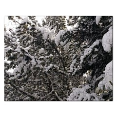 Snowy Trees Jigsaw Puzzle (Rectangle)