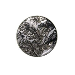 Snowy Trees Golf Ball Marker 4 Pack (for Hat Clip)