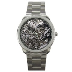 Snowy Trees Sport Metal Watch