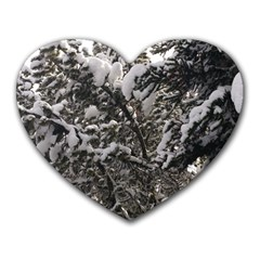 Snowy Trees Mouse Pad (Heart)