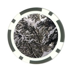 Snowy Trees Poker Chip