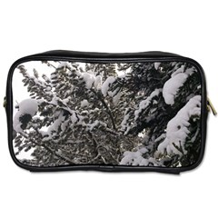Snowy Trees Travel Toiletry Bag (One Side)