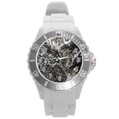 Snowy Trees Plastic Sport Watch (Large)