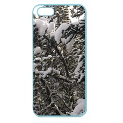 Snowy Trees Apple Seamless iPhone 5 Case (Color)