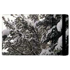 Snowy Trees Apple iPad 3/4 Flip Case