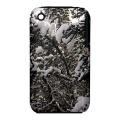 Snowy Trees Apple iPhone 3G/3GS Hardshell Case (PC+Silicone)