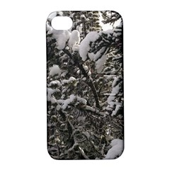 Snowy Trees Apple iPhone 4/4S Hardshell Case with Stand