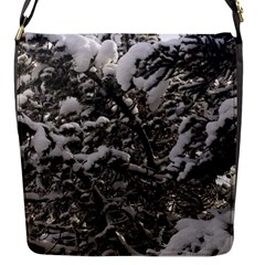 Snowy Trees Flap Closure Messenger Bag (Small)