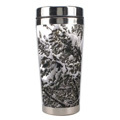 Snowy Trees Stainless Steel Travel Tumbler