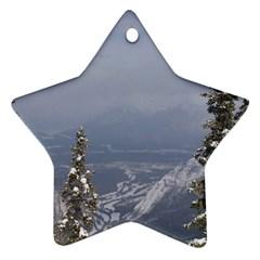 Trees Star Ornament