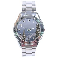 Trees Stainless Steel Watch