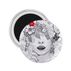 Flower Child 2.25  Button Magnet