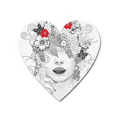 Flower Child Magnet (Heart)