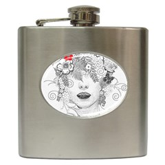 Flower Child Hip Flask