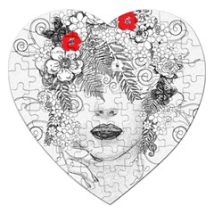 Flower Child Jigsaw Puzzle (Heart)