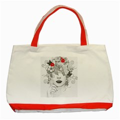 Flower Child Classic Tote Bag (Red)