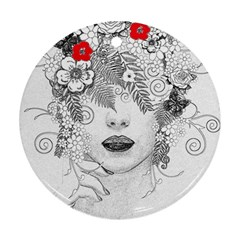 Flower Child Round Ornament (Two Sides)