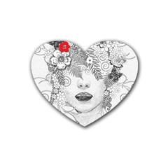 Flower Child Drink Coasters (Heart)