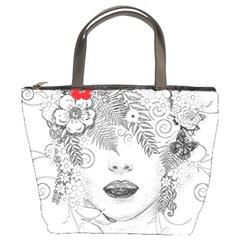 Flower Child Bucket Handbag