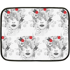 Flower Child Mini Fleece Blanket (Two Sided)