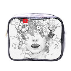 Flower Child Mini Travel Toiletry Bag (one Side)