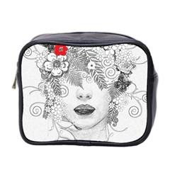 Flower Child Mini Travel Toiletry Bag (two Sides)